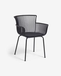 Chaise de jardin Surpika noire