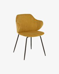 Mustard corduroy Suanne chair