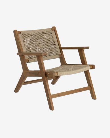 Poltrona Geralda in legno di acacia con finitura scura FSC 100%