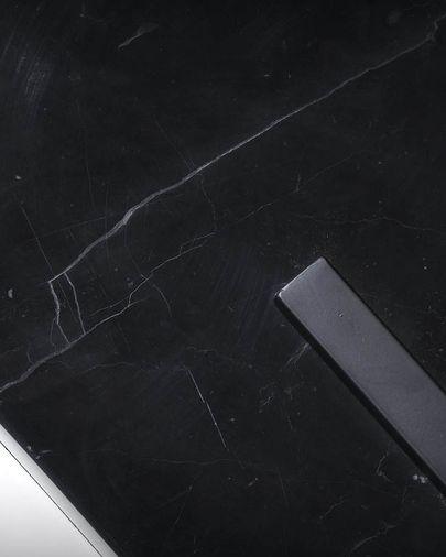 Lámpara de pie Juhe de acero y mármol negro