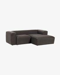 Divano Blok 2 posti chaise longue destro grigio 240 cm