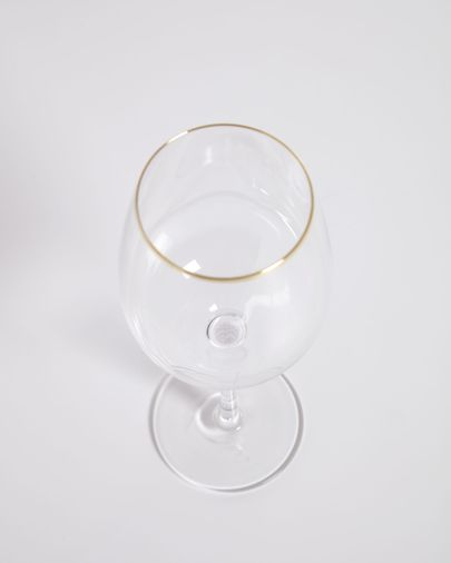 Rasine transparent wine glass with gold detail 40 cl
