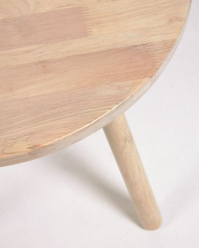 Ronde kindertafel Dilcia in massief rubberhout Ø 55 cm