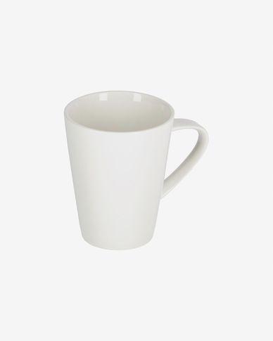Tazza Pierina in porcellana bianca