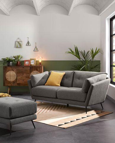 Sofa 3-osobowa Sahira w kolorze szarym 195 cm