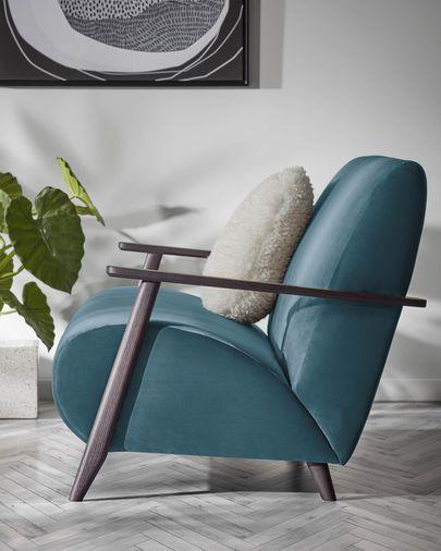 Turquoise velvet Meghan armchair