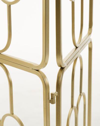 Biombo Dai de acero con acabado dorado 123 x 182 cm