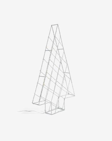 Lichtgevende kerstboom Phytia grijs