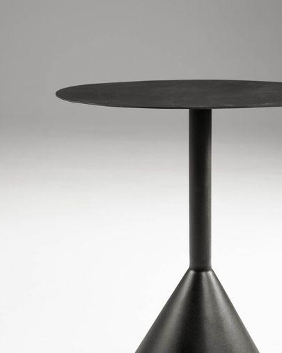 Mesa auxiliar Yinan Ø 48 cm negro