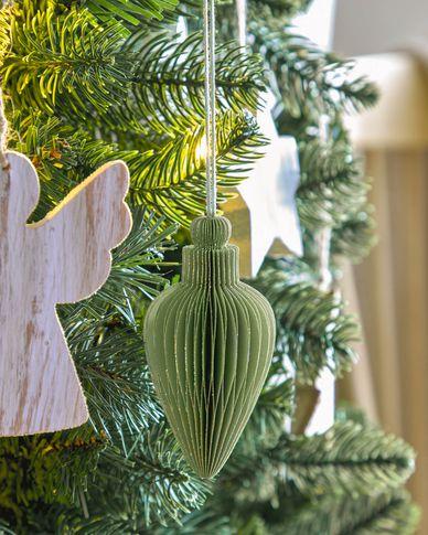 Yaril set van 3 groene kerstballen