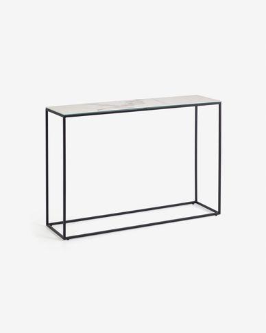 Rewena console table porcelain Kalos Blanco finishing 110 x 75 cm