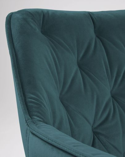 Stoel Mulder turquoise fluweel