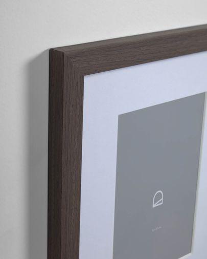 Cornice Luah 39 x 49 cm con finitura scura