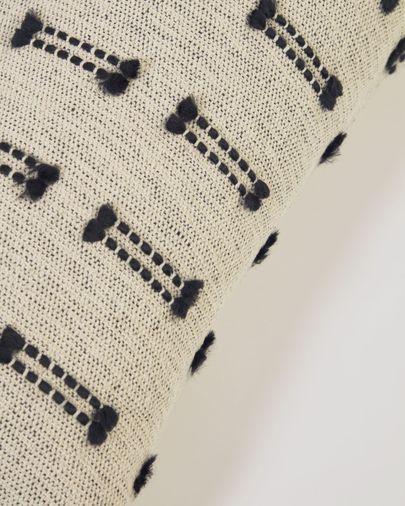 Funda cojín Charis 100% algodón beige 30 x 50 cm