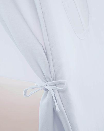 Tipi Darlyn 100% algodão azul e pernas de madeira maciça de pinho