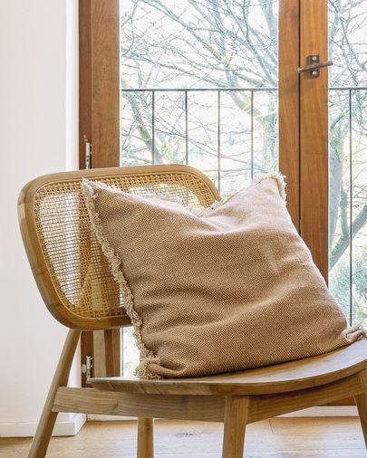 Camily salmon cushion cover 60 x 60 cm