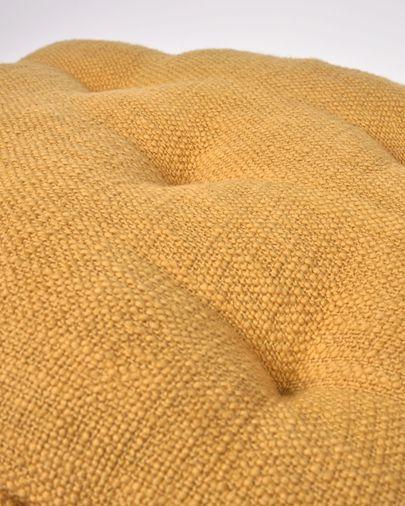 Coixí per cadira Brunela 100% cotó mostassa 45 x 45 cm