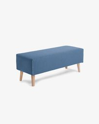 Banqueta Dyla azul de madera maciza de haya 111 cm