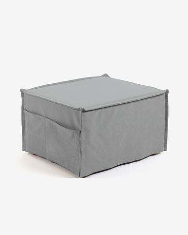 Pouf letto Lizzie 70 x 60 (180) cm grigio
