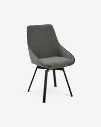 Jenna dark grey swivel chair