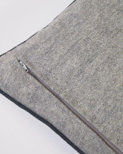 Funda cojín Alcara gris con borde negro 45 x 45 cm