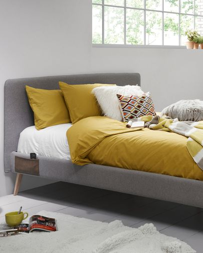 Dyla bed 160 x 200 cm grey