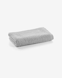 Miekki small bath towel light grey