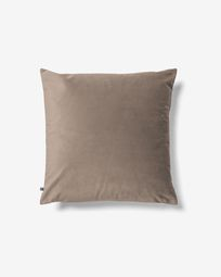 Lita cushion cover 45 x 45 cm taupe velvet