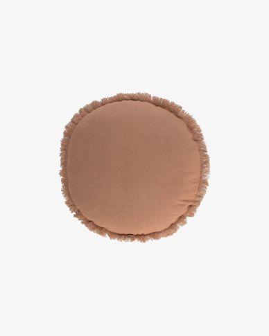 Clarice bruin kussenhoes Ø 45 cm