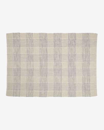 Donata striped rug in beige and grey 160 x 230 cm