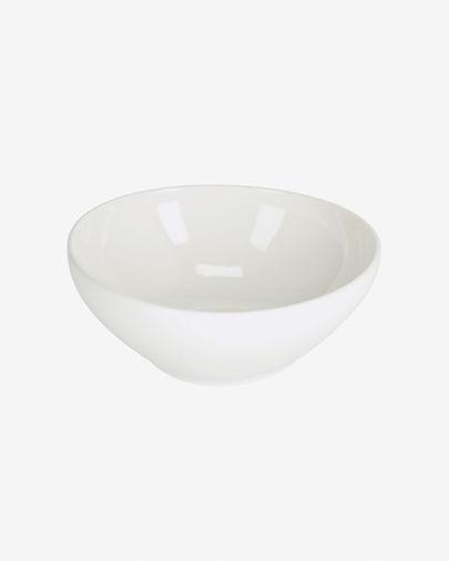 Taça redonda grande Pahi porcelana branco
