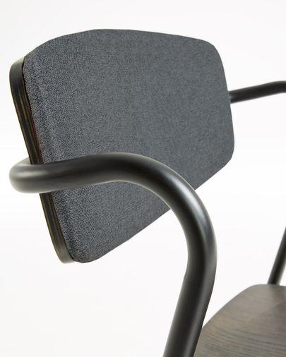 Silla Milian gris y chapa de fresno