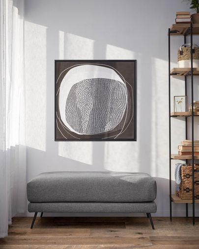 Reposapiés Sahira 80 x 60 cm gris