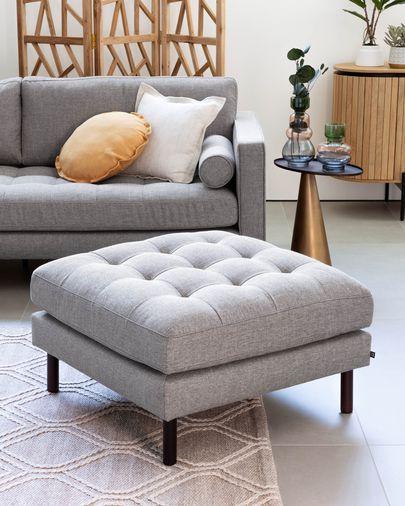 Light grey Debra footstool 80 x 80 cm