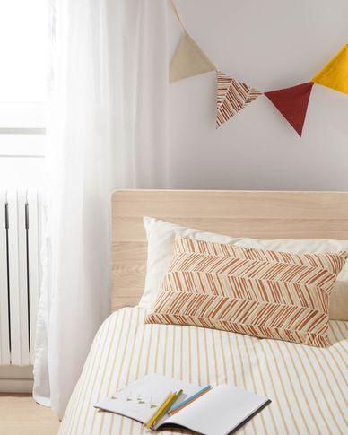 Poszewka na poduszkę Uriana 100% bawełna brązowa i żółta 30 x 50 cm