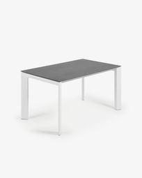 Tavolo allungabile Axis 140 (200) cm porcellanato finitura Vulcano Roca gambe bianco
