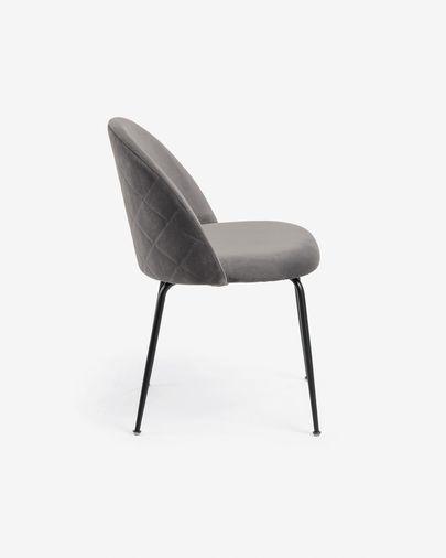 Ivonne grey velvet chair