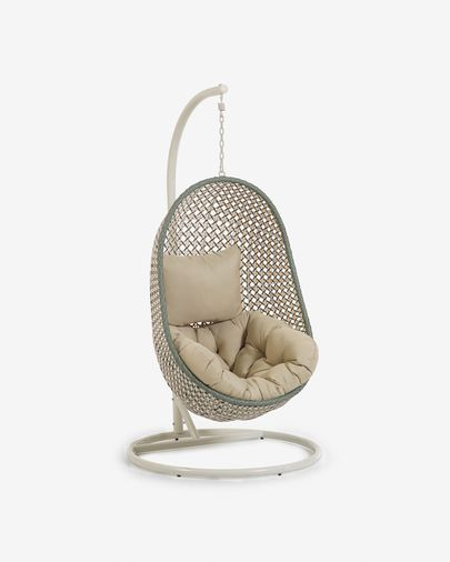 Cira multicoloured hanging chair with base