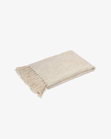 Manta Seila 100% algodón beige 130 x 170 cm