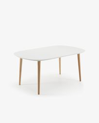 Oqui oval extendable table 160 (260) x 100 cm white