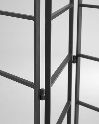 Ondine black metal room divider 124,5 x 184 cm