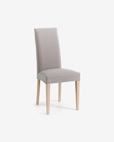 Freda chair light grey and natural