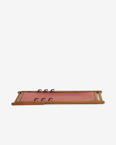 Składany leżak ogrodowy Adredna terakota z litego drewna akacjowego FSC 100%| Kave Home