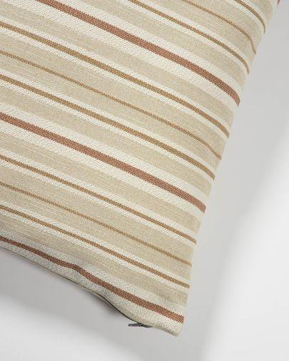 Sydelle beige gestreift Kissenbezug 60 x 60 cm