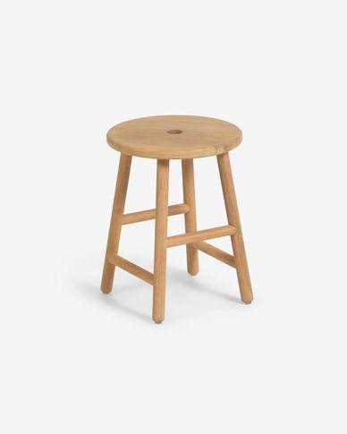 Table d'appoint ronde Huara en bois massif d'eucalyptus de Ø 35cm