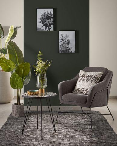 Graphite Brida armchair