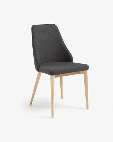 Cadira Rosie gris fosc acabat natural