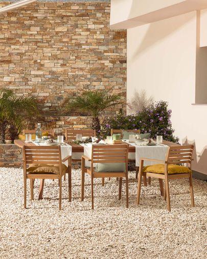 Hanzel solid acacia garden chair FSC 100%