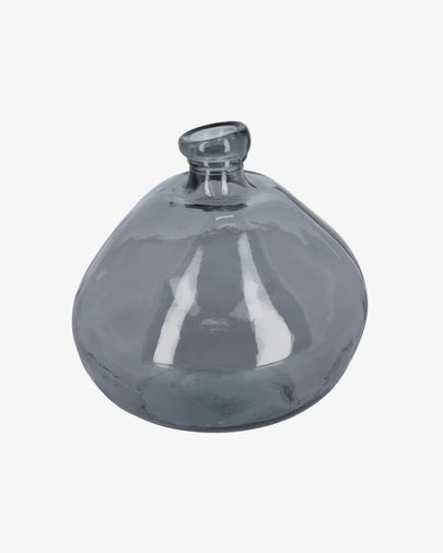 Vase Brenna bleu grand format en verre 100% recyclé