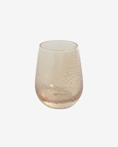 Saran light orange glass